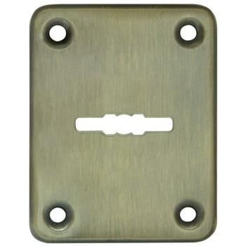 Декоративная накладка ESC082-AB-7 (БРОНЗА) на сувальдный замок (1шт) (латунь)