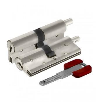 Цилиндровый механизм под вертушку Cisa RS3 OL3S2-29.12 (90 мм/40+10+40), НИКЕЛЬ