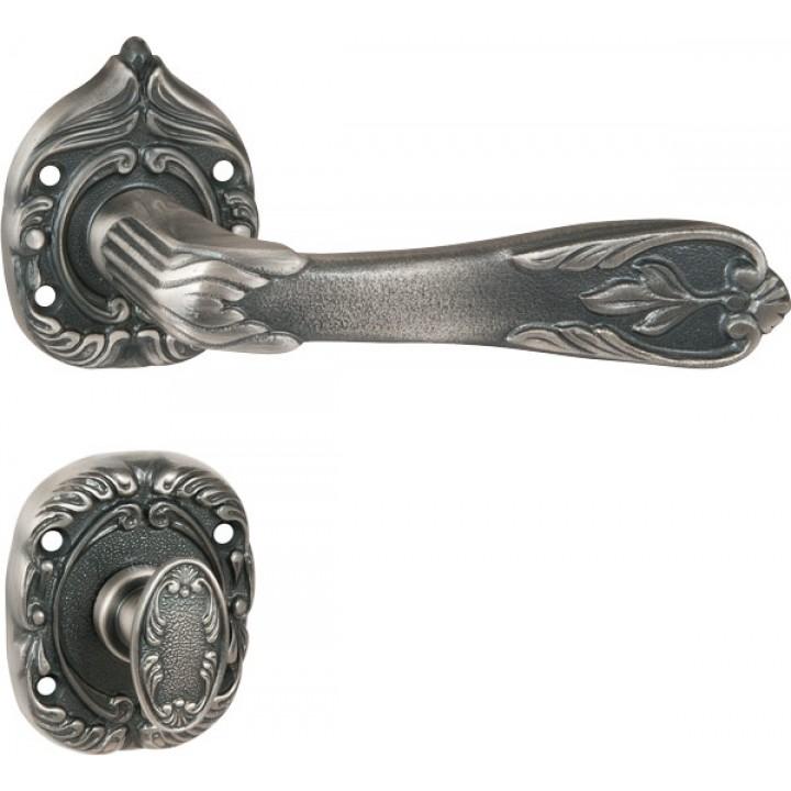 Ручка раздельная Florence на роз. Florence c WC Bolt Florence античное серебро (AS)