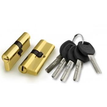 Цилиндровый механизм A200/60 mm (25+10+25) PB латунь 5 кл.
