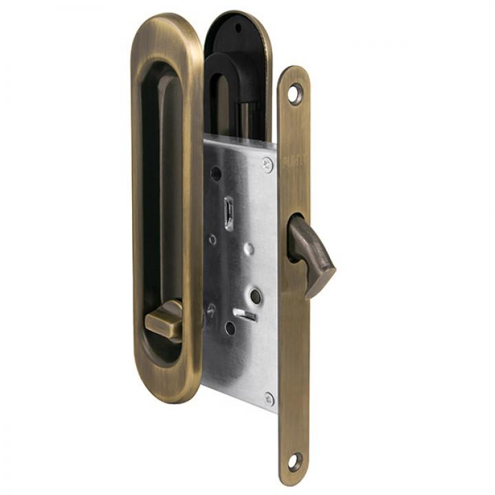 Защелка с ручками для раздвижных дверей Soft LINE SL-011 AB
