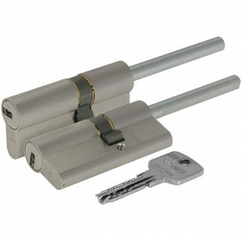 Цилиндровый механизм под вертушку (дл. шток) Cisa ASTRAL ОА317-12.12(70 мм/35+10+25), НИКЕЛЬ